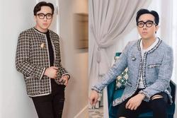 Diện áo vải tweed điệu đà, Trấn Thành bị nghi 'mượn đồ của vợ'
