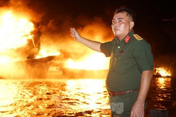 Hỏa hoạn bao trùm 3 tàu, xuồng ở Cam Ranh, thiệt hại ban đầu 14 tỷ đồng-5