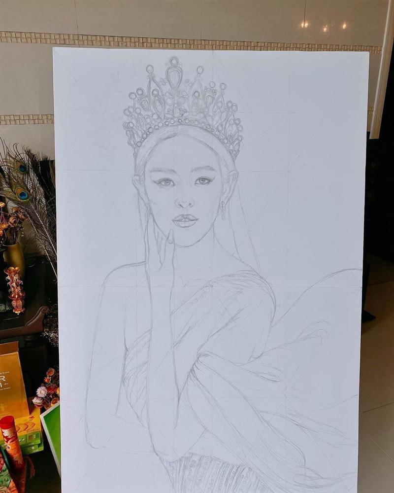 Bố hoa hậu Khánh Vân trổ tài vẽ con gái, kết quả khiến người xem bất ngờ-3
