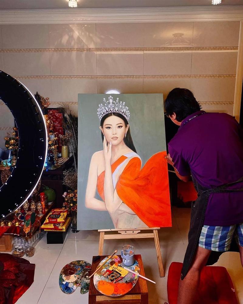 Bố hoa hậu Khánh Vân trổ tài vẽ con gái, kết quả khiến người xem bất ngờ-5