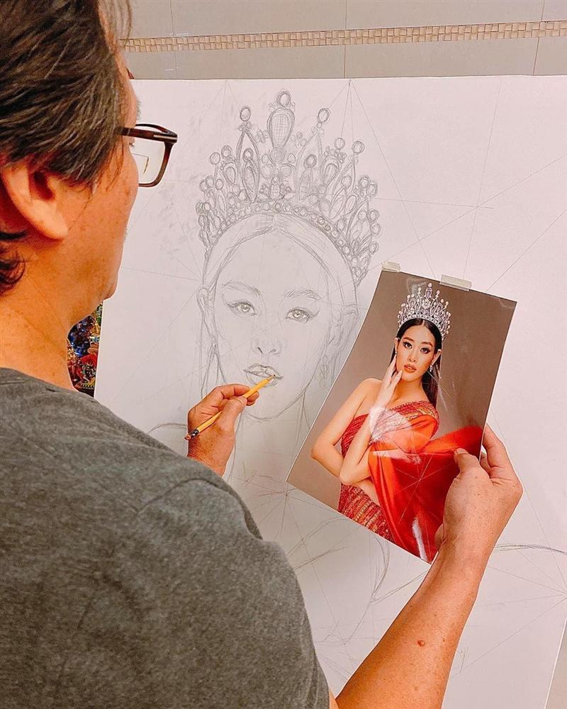 Bố hoa hậu Khánh Vân trổ tài vẽ con gái, kết quả khiến người xem bất ngờ-2