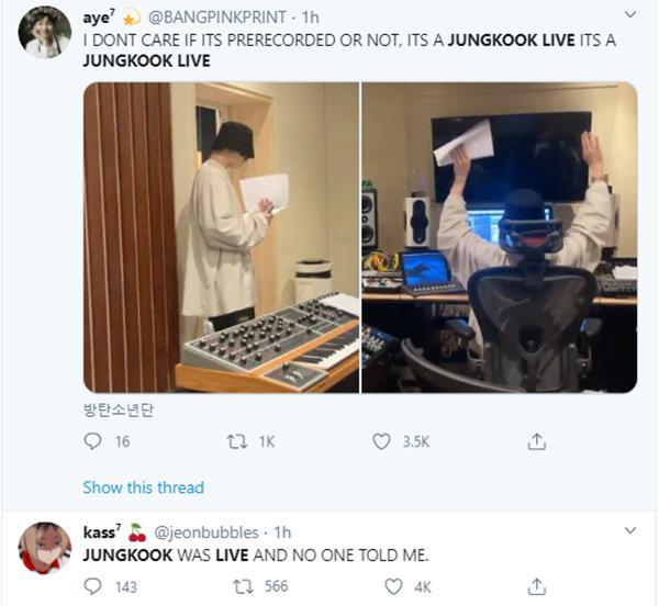 Phát live Youtube vỏn vẹn hơn 2 phút, Jungkook đã gây náo loạn twitter Mỹ-5