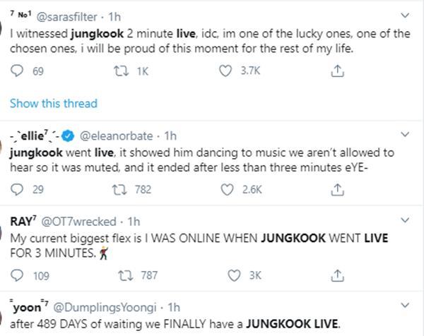 Phát live Youtube vỏn vẹn hơn 2 phút, Jungkook đã gây náo loạn twitter Mỹ-6