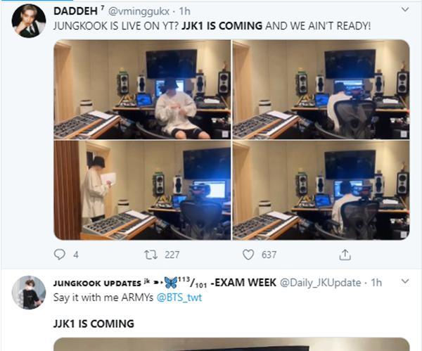 Phát live Youtube vỏn vẹn hơn 2 phút, Jungkook đã gây náo loạn twitter Mỹ-9