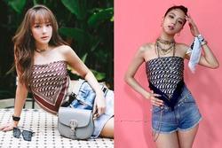 Lên đồ giống hệt Jisoo, Minh Hằng vẫn 'hiền khô' so với idol Hoa hậu