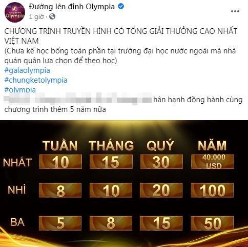 Ơn giời sau 20 năm phát sóng, Olympia đã chịu xê dịch tiền thưởng cho nhà vô địch-2