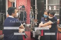Người tình thiếu gia ôm Hòa Minzy chặt cứng trong cửa hàng thời trang