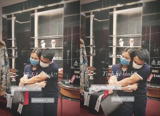 Người tình thiếu gia ôm Hòa Minzy chặt cứng trong cửa hàng thời trang-2