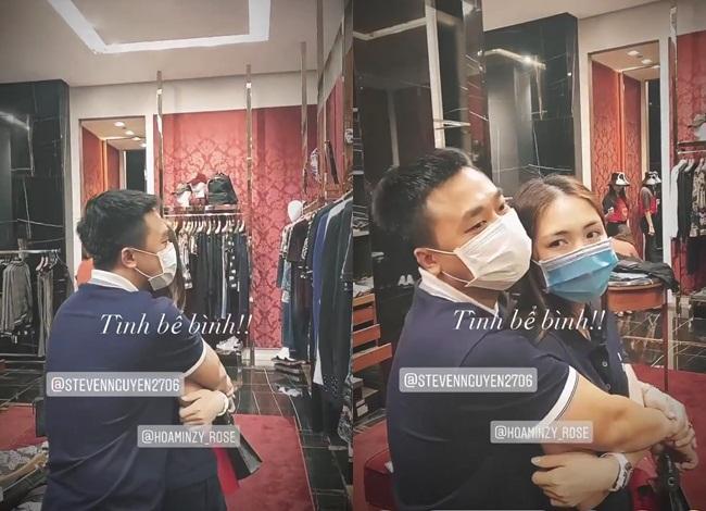Người tình thiếu gia ôm Hòa Minzy chặt cứng trong cửa hàng thời trang-3
