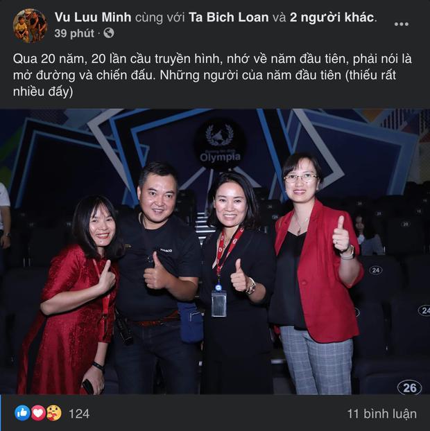MC Lưu Minh Vũ khoe ảnh những người đồng hành với Đường lên đỉnh Olympia từ ngày đầu tiên-1
