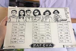 Sơ đồ lớp phiên bản 'Rap Việt' nịnh thầy cô cứ gọi là... vui đừng hỏi