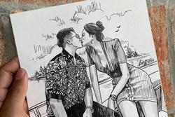 Được tag thẳng vào ảnh vẽ cảnh khóa môi trên du thuyền, Matt Liu - Hương Giang đồng loạt phản ứng tâm đầu ý hợp