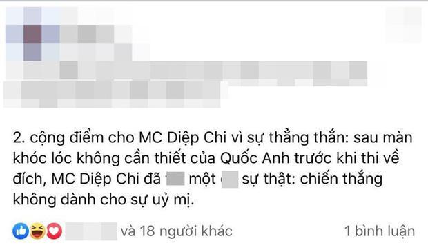 Dân mạng lan truyền pha xử lý đỉnh cao của MC Diệp Chi khi nhìn Á quân Olympia bật khóc-2