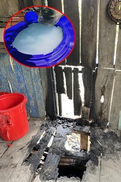 Sốc: Nghi vấn phóng hỏa đốt nhà, bỏ thuốc sâu vào lu nước của người dân