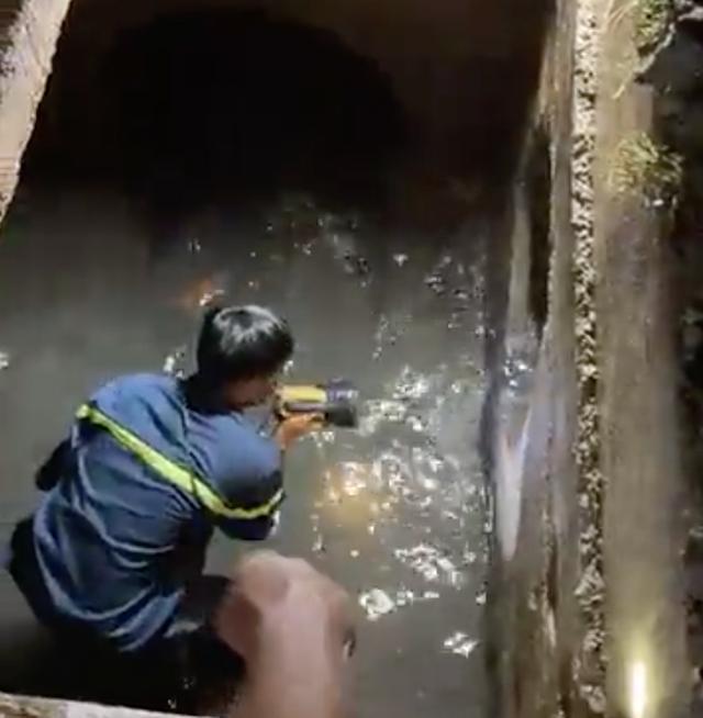 Kinh hoàng khoảnh khắc người phụ nữ lọt xuống mương, mất tích trong mưa lớn ở Đồng Nai-3