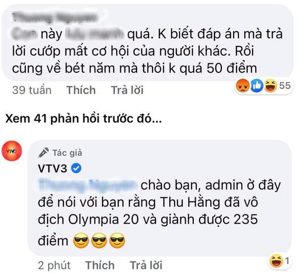 Dân mạng trù Thu Hằng kém nhất chung kết Olympia, VTV phản dame gắt thôi rồi-1
