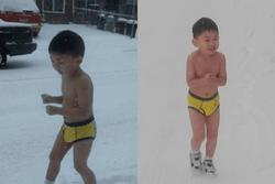 Cậu bé từng bị cha bắt cởi trần chạy dưới thời tiết  âm 13 độ giờ thế nào?
