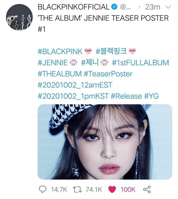 Jennie tiếp bước Jisoo lên thẳng top trending Mỹ chỉ bằng 1 bức ảnh-2