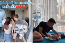 Khoảnh khắc chồng Hoàng Oanh gặp con trai tại Singapore sau 9 tháng xa cách