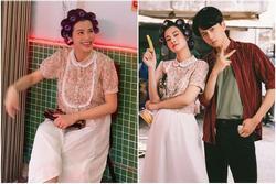 Làm cameo cho MV Ngô Kiến Huy, Đông Nhi lộ ảnh chụp lén 'khác khác' ảnh qua app