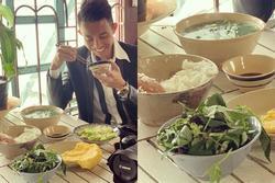 Bữa cơm đạm bạc của đại gia Minh Nhựa