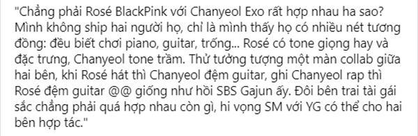 Vừa nhắc đến Chanyeol và Rosé hợp tác, fan 2 bên đã thi nhau nhảy cào cào-3
