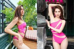 Gần 40 tuổi, bà mẹ 2 con đẹp nhất Thái Lan khoe đường cong đốt mắt với bikini táo bạo, Ngọc Trinh sao 'có cửa' trên cơ