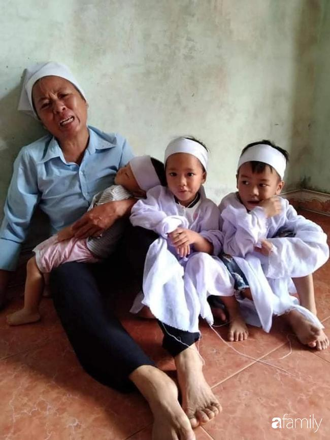 Vụ chồng ghen tuông hoang tưởng đâm chết vợ ở Nghệ An: Xót xa 3 đứa con thơ bơ vơ khát sữa, gào khóc đòi mẹ-3