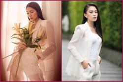 Tiểu Vy 'đụng hàng' Tăng Thanh Hà: Hoa hậu kém 14 tuổi bị mẹ 2 con lấn át vì không chịu thả rông?