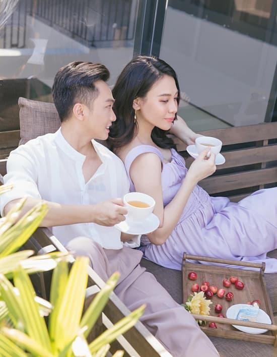 Cường Đô La chụp trộm con gái, vô tình làm lộ mặt mộc Đàm Thu Trang sau sinh-2