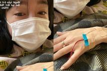 Elly Trần đăng ảnh giàn giụa nước mắt trên giường bệnh, cảnh cáo kẻ hãm hại