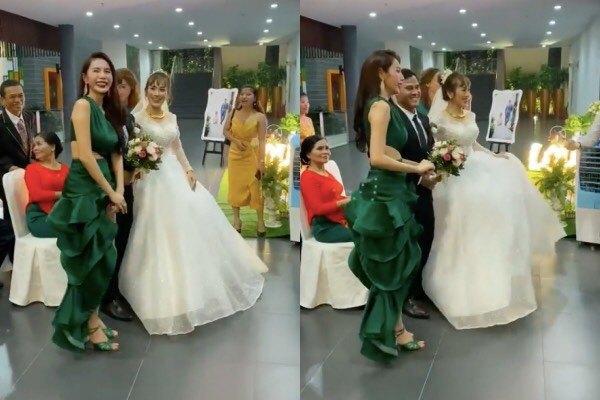 Thủy Tiên diện đầm đuôi cá xanh lá lấn át cả cô dâu nhưng lại được khen ngợi-2