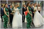 Thủy Tiên diện đầm đuôi cá xanh lá lấn át cả cô dâu nhưng lại được khen ngợi
