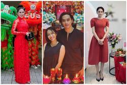 Sao Việt cúng Tổ nghề: Diệu Nhi mặc đầm sát nách - Phi Thanh Vân diện áo dài ren đỏ rực rỡ
