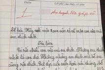 Học sinh tiểu học tả thú cưng, cô giáo chấm 1 điểm còn đòi gặp phụ huynh gấp