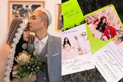 Vợ chồng Khánh Đơn hé lộ thiệp cưới, thời gian và địa điểm đã rõ ràng