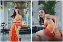 Nhảy cực sung trong MV 'Cá cắn câu', Mlee lộ hàng mà không hay biết