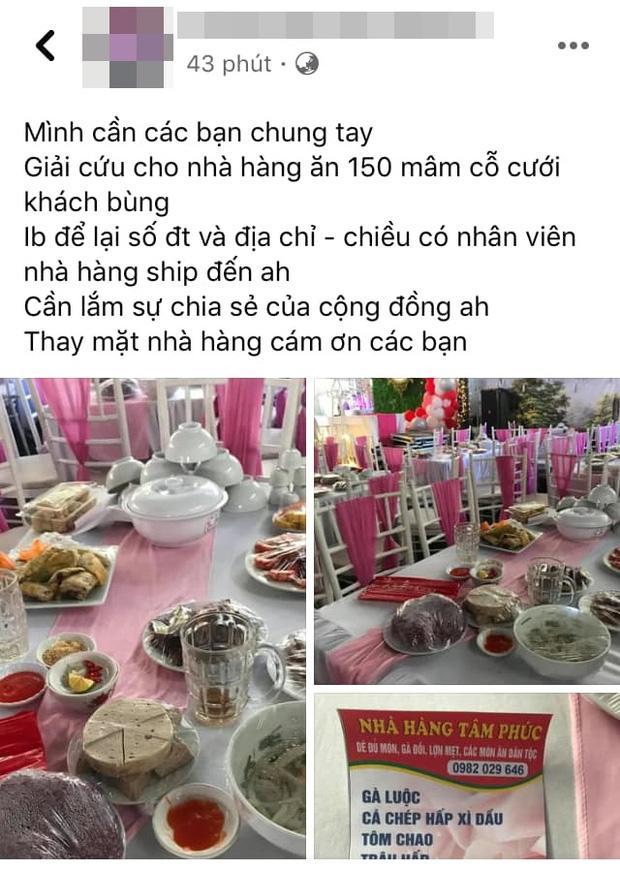 Vụ nhà hàng bị bom 150 mâm cỗ giá hơn 200 triệu: Hôm qua cô dâu vẫn đến hỏi về tình hình cỗ bàn-1