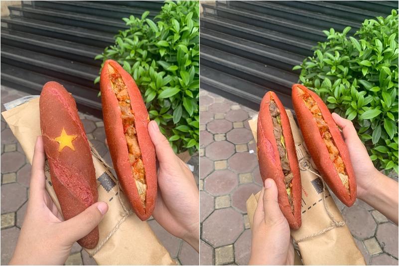 Món bánh mì yêu nước độc nhất vô nhị ở Hà Nội khiến dân tình thi nhau thả like-1