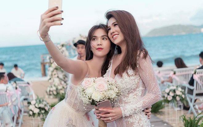 Ngọc Trinh nhiều lần chiếm spotlight cô dâu vì mặc quá nổi bật-2