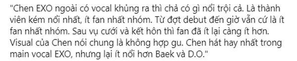 Bi chê không có gì nổi trội, Chen có còn được EXO-L bảo vệ sau khi kết hôn ?-2