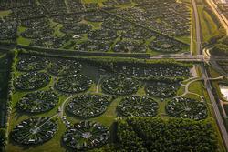 Khu nhà vườn có kiến trúc hình tròn ở Đan Mạch