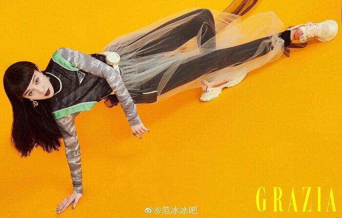 Phạm Băng Băng diện jumpsuit khoét ngực sâu tôn vòng 1 khủng siêu gợi cảm-8