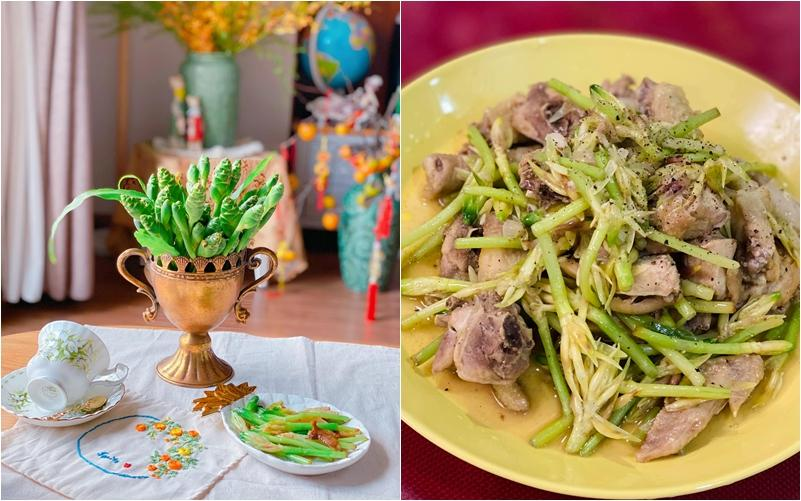 Hội chị em trổ tài cắm hoa bằng rau củ đẹp lạ, chơi chán thì mang nấu ăn-1
