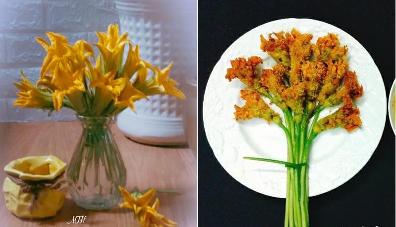 Hội chị em trổ tài cắm hoa bằng rau củ đẹp lạ, chơi chán thì mang nấu ăn-7