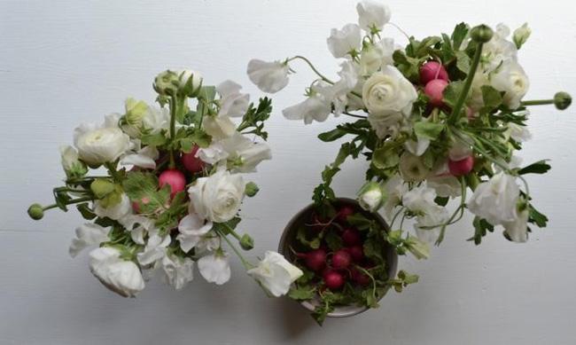 Hội chị em trổ tài cắm hoa bằng rau củ đẹp lạ, chơi chán thì mang nấu ăn-8