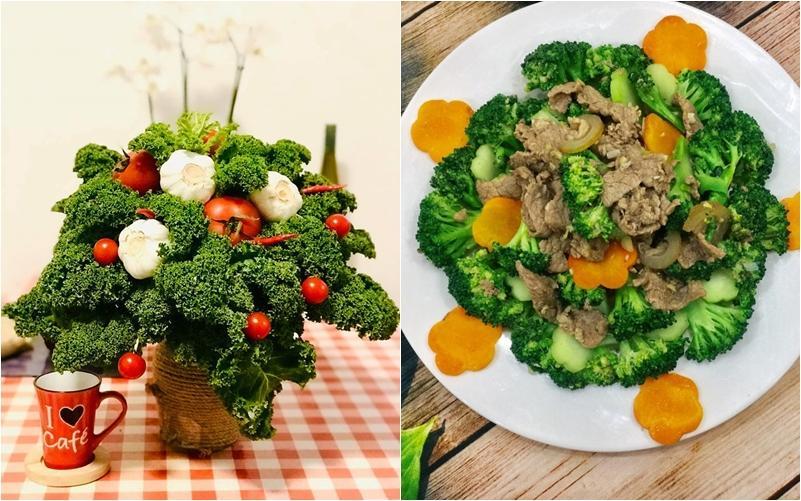 Hội chị em trổ tài cắm hoa bằng rau củ đẹp lạ, chơi chán thì mang nấu ăn-9