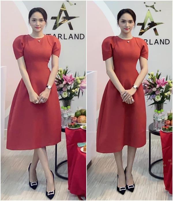 Cứ mỗi lần ngồi xe sang, Hương Giang lại chiêu đãi fan xu hướng thời trang mới-3