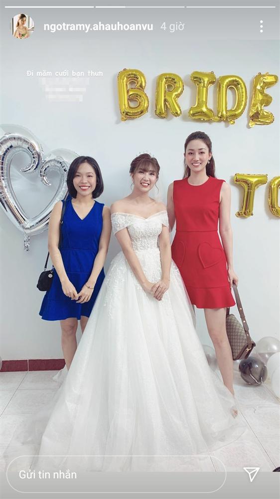 Đi ăn cưới bạn thân, Á hậu Ngô Trà My dìm cô dâu xuống vị trí thứ nhì-2