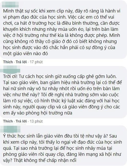 Nữ sinh Tây Ninh bị dội bom khi mặc áo dài nhảy nhót phản cảm trên bàn làm việc giáo viên-3